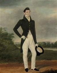 portrait of a gentlemen by james (of bath) loder