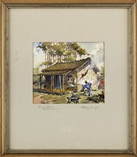 bayou cabin, louisiana by charles oglesby longabaugh