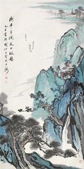 潮平岸阔 立轴 设色纸本 by qi shuyu