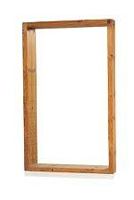 Large wall mirror with pine wood frame by Nordiska Kompaniet on artnet