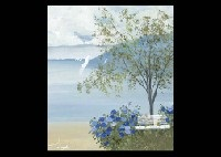 landscape of blue and white by eda varrichio