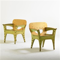 puzzle arm chairs (pair) by david kawecki