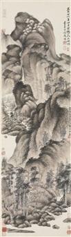 dwelling in the qingbian mountains (after wang meng) by wu hufan