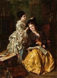 zwei damen by charles van den daele