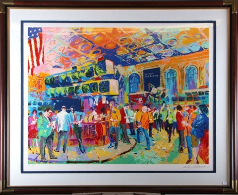 the american stock exchange by leroy neiman