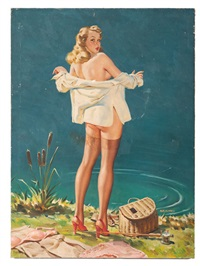 pin-up illustration by arnold armitage