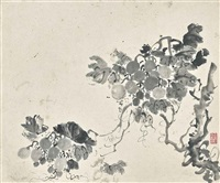 flowers and fruits (album w/6 works) by chen shuaizu