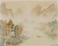 felsige flusslandschaft by liao cheng-hui