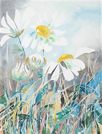 untitled - daisies by yone young