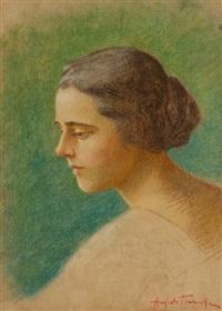ritratto di donna by angiolo tommasi