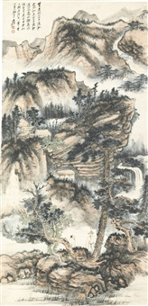 landscape after shixi by zhang daqian