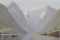 fjordlandskap by hans dahl