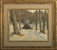 winter at the syrup house by george barton