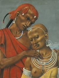 junges afrikanisches paar by werner peiner