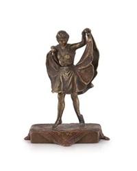 a metamorphic cold-painted bronze figurine by franz bergman