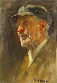porträtstudie by arthur kampf