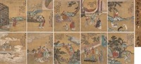 人物册 (album of paintings) (album of 10) by leng qian