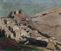 südliches bergdorf by otto sohn-rethel