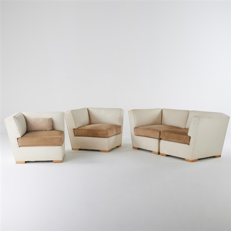 Sectional Seating Consisting Of Four Corner Chairs That Can Also Be  Assembled As Two Love Seats