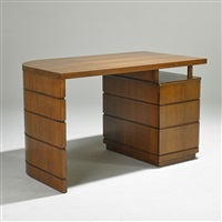 single-pedestal desk, usa by donald deskey