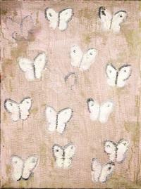 pink butterflies by hunt slonem