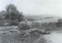 hayfield, on the levern by albert haselgrave
