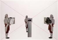 dal trionfo della rappresentazione (cerimoniale: l'artista è assente) (portfolio of 3) by giulio paolini