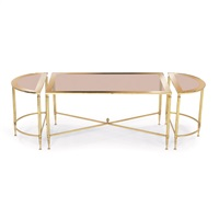 coffee table set (3 pieces) by labarge