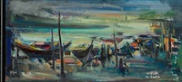 harbour scenery, bagdad by khalid al-jadir
