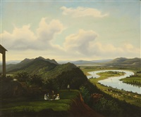 a view of the oxbow from mount holyoke, massachussets by american school (19)