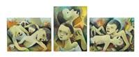 die armen kinder von vietnam (triptych) by carry hauser