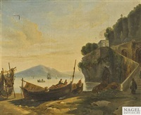 neapolitanische küstenlandschaft am frühen morgen by l. campano