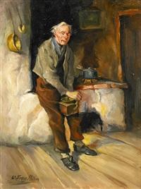 mann mit kaffeemühle by wilhelm friedrich frey
