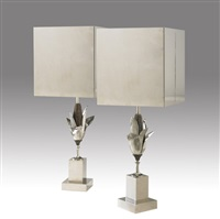 table lamps (pair) by charles et fils