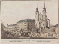ansicht kirche und kloster maria hilf wien (from ansichten der residenzstadt wien ...) by johann ziegler