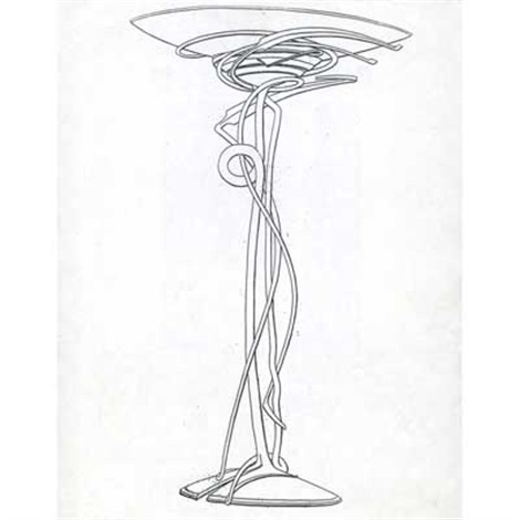 floor lamp drawing wall lights floor lamp proposal drawing for the peter joseph gallery by albert paley floor peter joseph gallery albert