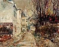 rue de l'abreuvoir, montmartre by miguel llabres