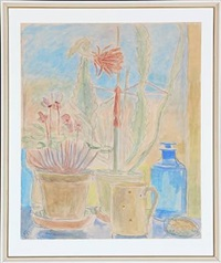 still life with flowers by christine swane