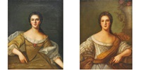 portrait des filles de louis xv (2 works) by nattier