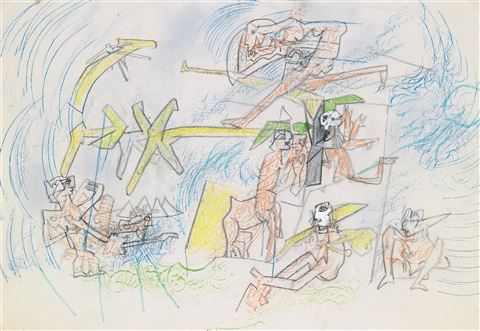 personnages fantastiques by roberto matta