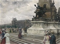 paris, place gambetta by eugenio alvarez dumont