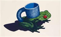 frog cup by ken price