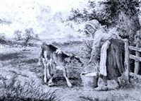 feeding a calf by horace hammond