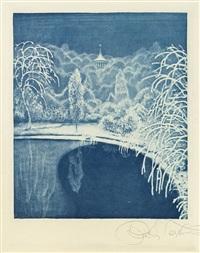 winterliche landschaft by richard teschner