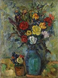 stilleben mit roten rosen by iosif naumovich gurvich