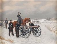 preussische soldaten beim anvisieren by christian sell