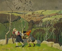 a windy day by harold harvey