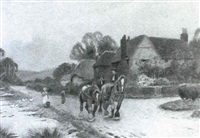 a sussex village by albert haselgrave