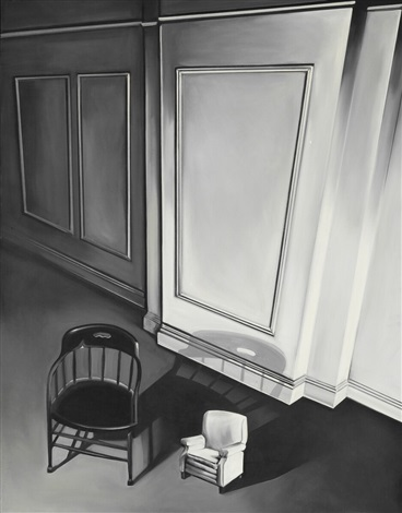 Chairs From Two Rooms By Lowell Nesbitt