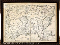 carte de la louisiane et du cours du mississipi, dressee sur...par guill. de l'isle by covens & mortier
